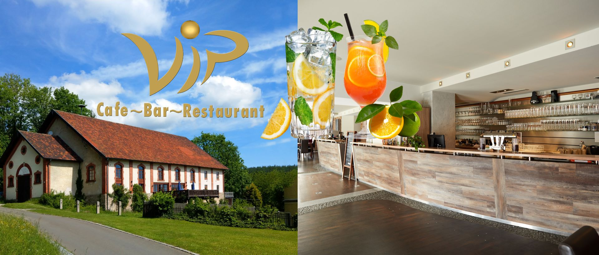 Cafe, Bar, Restaurant beim Vip Hans